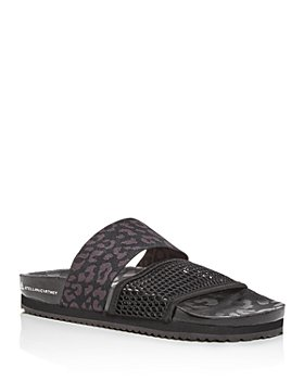 adidas by Stella McCartney - Women's Leopard-Print Slide Sandals