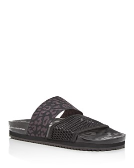 adidas by Stella McCartney - Women's Leopard-Print Slide Sandals