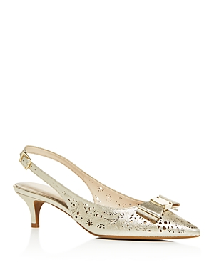 Cole Haan Women\\\'s Tali Bow Cutout Slingback Pumps