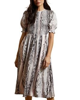 Ted Baker - Halomah Smock Bodice Midi Dress - 100% Exclusive
