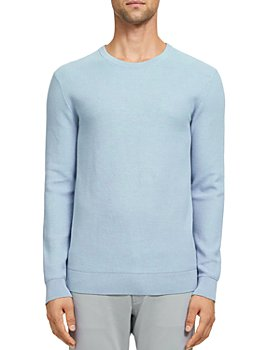 Theory - Riland Piqué Cotton Crewneck Sweater
