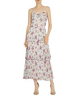 ML Monique Lhuillier - Printed Midi Dress