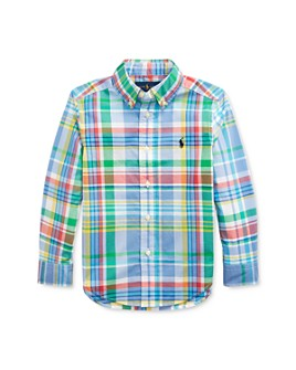 Ralph Lauren - Boys' Multicolor Plaid Poplin Shirt - Little Kid