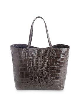 ROYCE New York - Embossed Leather Tote Bag