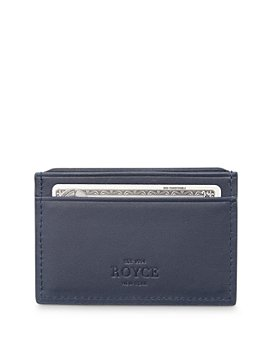 ROYCE New York - Leather RFID-Blocking Executive Slim Credit Card Case