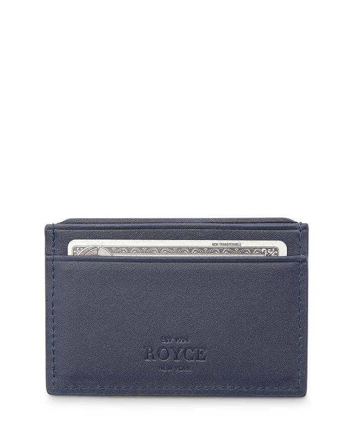 ROYCE New York - Leather RFID-Blocking Executive Slim Credit Card Case