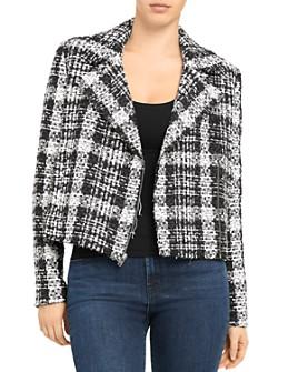 Theory - Rubber Tweed Slim Moto Jacket