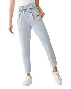 DL1961 - Susie Paperbag-Waist High-Rise Tapered Jeans in Hazen