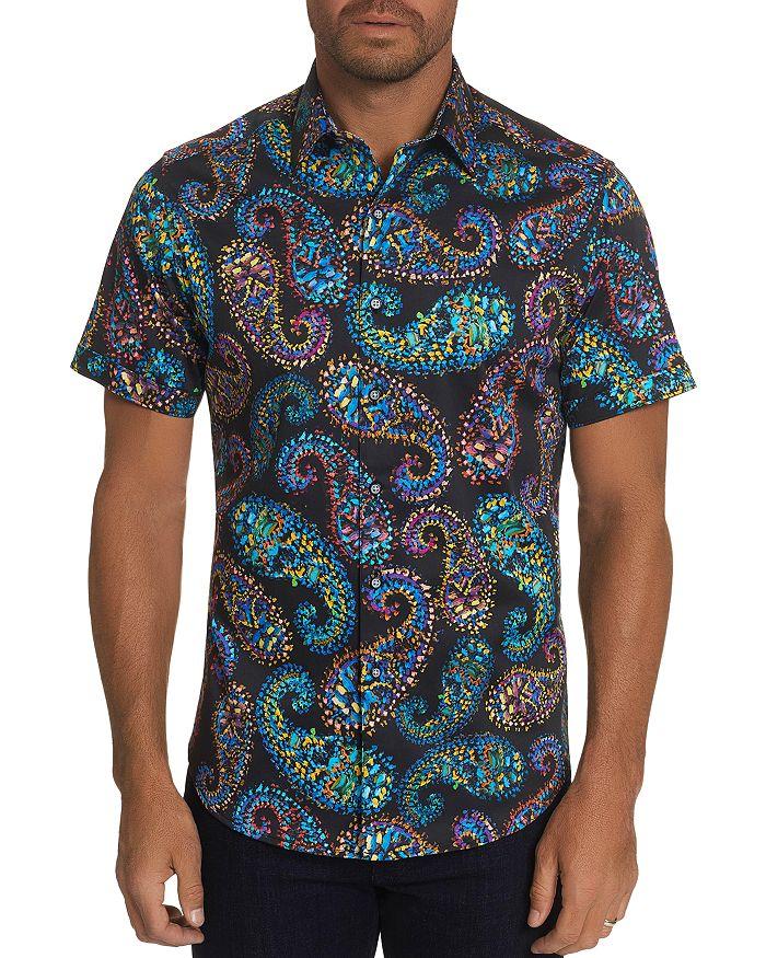 Robert Graham - Piston Paisley Print Classic Fit Short-Sleeve Shirt