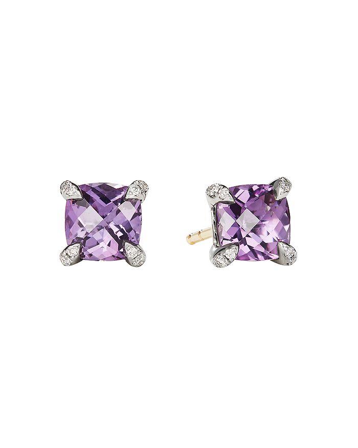 David Yurman - Châtelaine® Stud Earrings with Amethyst and Diamonds