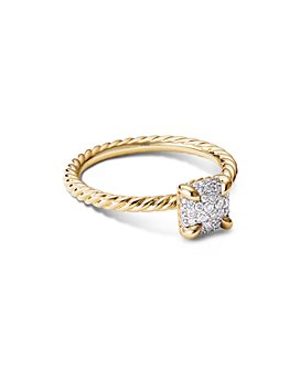 David Yurman - Châtelaine® Ring in 18K Yellow Gold with Full Pavé Diamonds