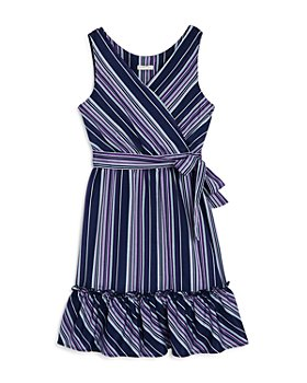 Habitual Kids - Girls' Baylee Striped Ruffled Sleeveless Dress - Little Kid, Big Kid