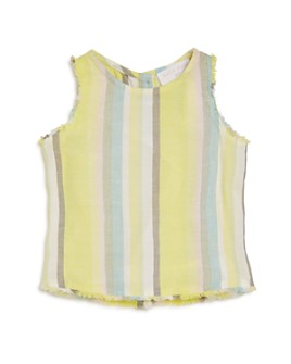 Bella Dahl - Girls' Frayed-Hem Stripe Tank - Big Kid