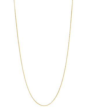Mirror Cable Link Chain Necklace in 14K Yellow Gold