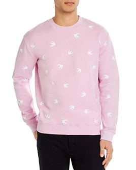 McQ Alexander McQueen - Cotton Swallow-Print Sweatshirt