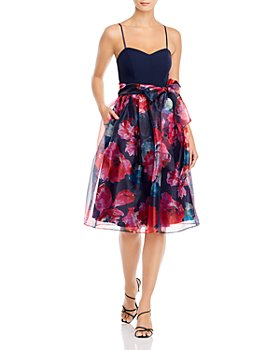Eliza J - Sweetheart Neckline Fit-and-Flare Dress