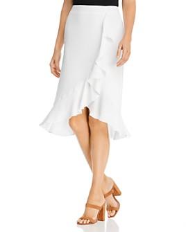 cupcakes and cashmere - Roxanne Ruffled Midi Skirt