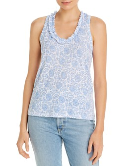 Goldie - Cotton Paisley Print Tank Top