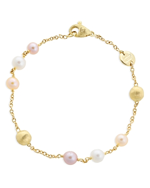 Marco Bicego 18K Yellow Gold Africa Pearl Multicolor Cultured Freshwater Pearl Bracelet