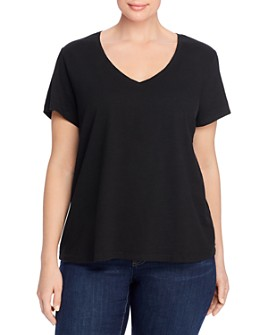 Eileen Fisher Plus - Organic Cotton V-Neck Tee