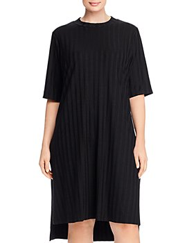 Eileen Fisher Plus - Ribbed Mock Neck Dress