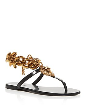 Dolce & Gabbana - Women's Devotion Chain Thong Sandals