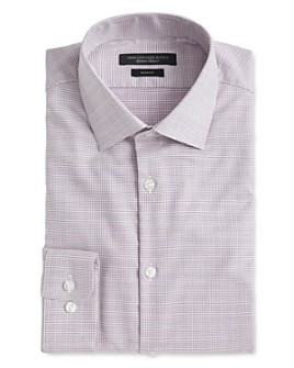 John Varvatos Star USA - Soho Contrast Grid Slim Fit Dress Shirt