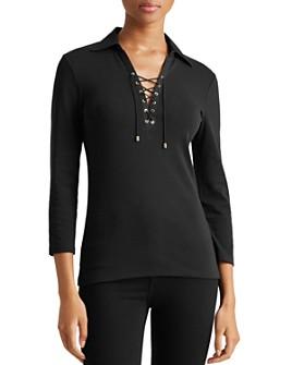 Ralph Lauren - Lace-Up Collared Shirt