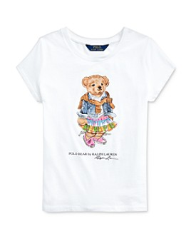 Ralph Lauren - Girls' Polo Bear Tee - Big Kid