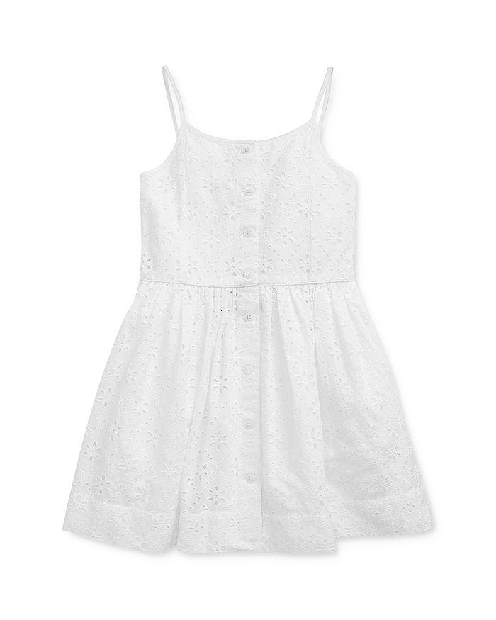 Ralph Lauren POLO RALPH LAUREN GIRLS' EYELET DRESS - LITTLE KID