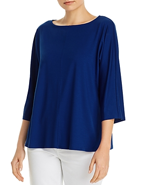 EILEEN FISHER BOAT-NECK BOXY TOP