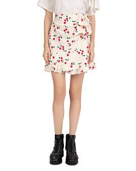 The Kooples - Naive Cherry-Printed Ruffled Skirt