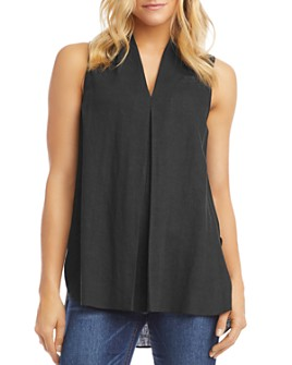 Karen Kane - Pleated-Front Sleeveless Top