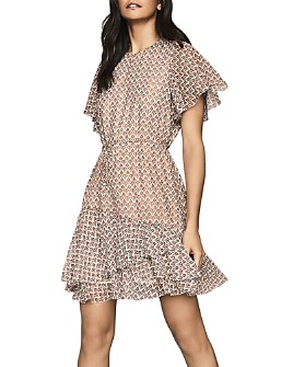 REISS - Anna Printed & Ruffled Dress - 100% Exclusive