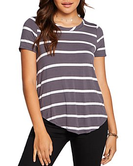 CHASER - Striped Shirttail Tee