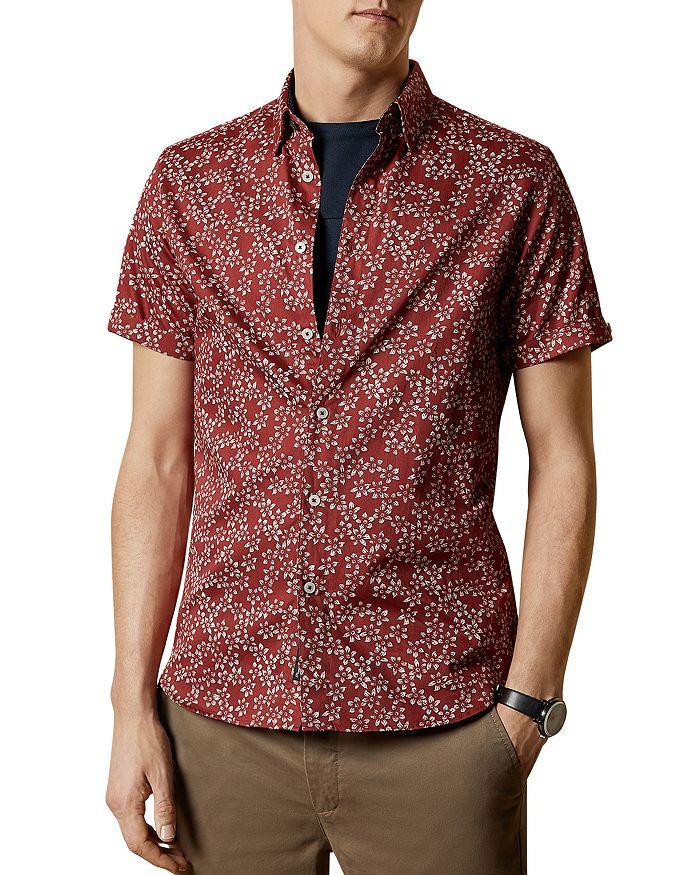 Ted Baker - Yepyep Floral Print Slim Fit Shirt