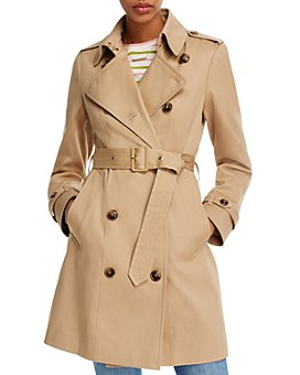 AQUA - Belted Trench Coat - 100% Exclusive