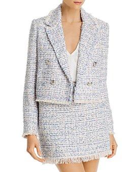 AQUA - Fringed Tweed Blazer - 100% Exclusive