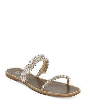 Badgley Mischka - Women's Jenelle Embellished Strappy Slip On Sandals