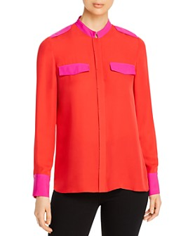 Elie Tahari - Lexi Color-Block Collared Shirt