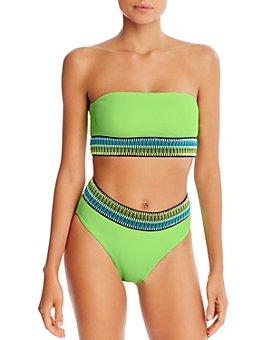 Peixoto - Kiwi Kirra Strapless Bikini Top & Kiwi Zoni High-Waist Bikini Bottom
