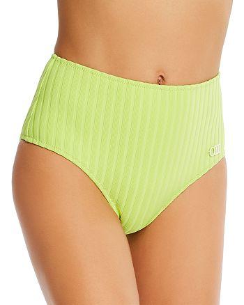 Solid & Striped - The Beverly Ribbed High-Waist Bikini Bottom