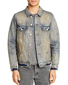 Purple Brand - Classic Fit Denim Jacket in Indigo Oil