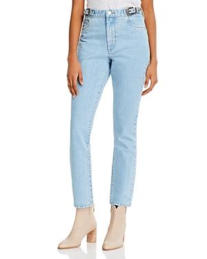 Blanknyc Cotton High-Rise Straight Jeans in Wild Wild West-Women