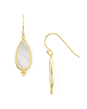 Argento Vivo Pave & Mother-of-Pearl Drop Earrings