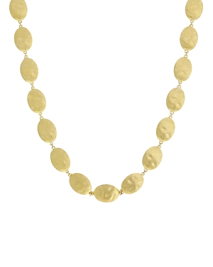 Marco Bicego 18K Yellow Gold Siviglia Textured Link Statement Necklace, 18-Jewelry & Accessories