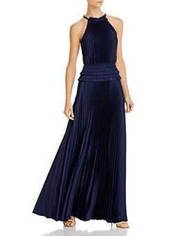 BCBGMAXAZRIA - Pleated Georgette Gown
