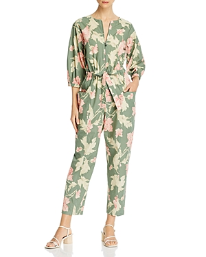 La Vie Rebecca Taylor Cotton Floral Print Jumpsuit-Women