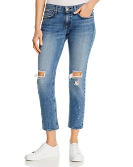 rag & bone - Dre Low-Rise Ripped Boyfriend Jeans in Star City