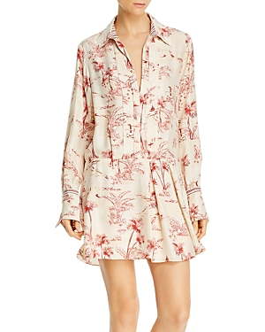 Frame Silk Printed Mini Dress